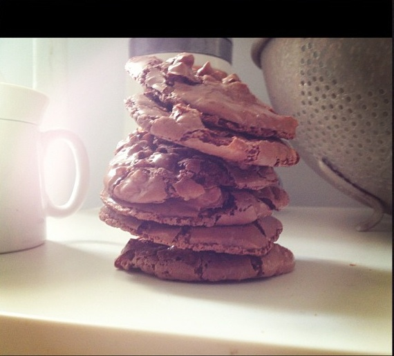 chocolate puddle cookies 2